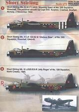 Print Scale Decals 1/72 SHORT STIRLING British WWII Bomber