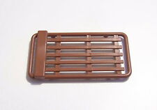 PLAYMOBIL (R306) STATION SERVICE - SHELL GRILLE de GARAGE MARRON 3437