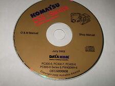 KOMATSU PC300-6 PC300-7 PC400-6 PC600-6 EXCAVATOR SERVICE SHOP REPAIR MANUAL