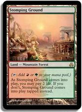 MTG MAGIC PACTE DES GUILDES RARE STOMPING GROUND (SIGNEE - DEDICACEE)