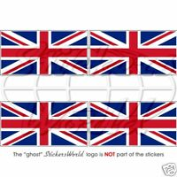 "British UNION JACK Flag UK United Kingdom 50mm (2"") Vinyl Stickers Decals x4"