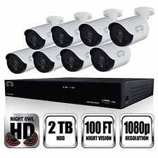 Night Owl 8-Channel 8-Camera 1080p Security System w/2TB HDD DVR CL-HDA882-1080