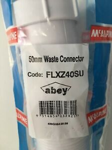 ABEY PLUMBING 50MM FLEXIBLE WASTE CONNECTORS - BRAND NEW