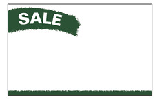 """100 - 3.5"""" x 5.5"""" SALE Speckle Tones price cards for Retail Stores Signage"""