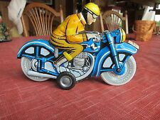 For Sale A Vintage Tin Motorcycle With Friction Motor In Great Orig.Cond.