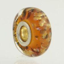 NEW Chamilia Charm Fortuna - Sterling Silver Murano Glass Bead 2110-1105 Siena