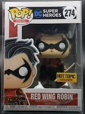 Funko Pop + Protector! Heroes #274 Red Wing Robin (Hot Topic) *Mint*