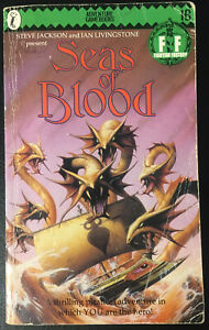 Seas of Blood Fighting Fantasy #16 1986 1st/4th Andrew Chapman Green Banner Good