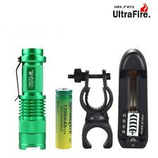 6000 LM LED Mini Flashlight Zoomable Torch Clip 3 Modes 14500 AA Battery PQ
