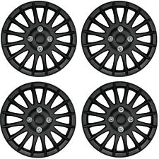 "Streetwize Car Wheel Trim Set 14"" Lightning  Black Set Of 4 Hub Caps Covers"