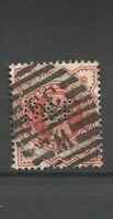 Great Britain Queen Victoria Perfins  Stamps Sellos Timbres Briefmarken