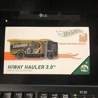 Hot Wheels ID   Series 1 - Hiway Hauler 3.0   Brand New