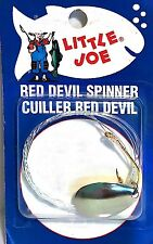 Lindy Little Joe #4 Nickel Red Devil Spinner Rig Harness with #2 Hook LR320