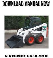 Bobcat 753 skid steer loader factory shop service repair manual on CD