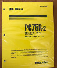 Komatsu Service PC75R-2 Excavator Shop Manual NEW #1