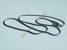 Collier Chaine Maille Serpent 1 mm Pur Acier Inox 46 cm