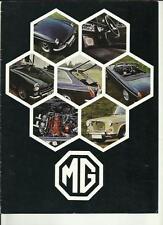 Mg 1300 Mk. II, MG Midget MK. III, MGB Y Mgb Gt Auto FOLLETO de octubre de 1969 para 1970