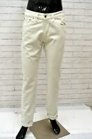 Pantalone CARRERA 700 Uomo Taglia 46 Jeans Pants Man Cotone Gamba Dritta Bianco