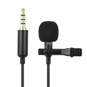 1.45m Mini Portable Microphone Condenser Clip-on Lapel Lavalier Wired Mic New