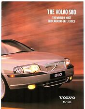 Volvo S80 2000-01 UK Market 16pp Sales Brochure