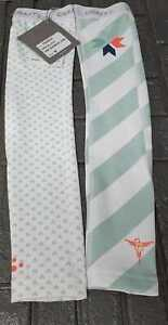 Craft Specialist Cycling Arm Warmers, White/Green, Women's Medium RRP £40
