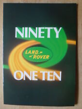 LAND ROVER NINETY & ONE TEN orig c1984 UK Mkt Sales Brochure - 90 110 #LR335