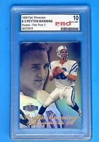 Peyton Manning RC 1998 Flair Showcase Row 3 ROOKIE #3 PRO 10 GEM MINT BGS PSA