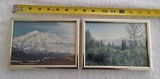 2 Vintage Photographs  5 X 7 Inches Sierra Nevada Mountains Metal Frame Lot