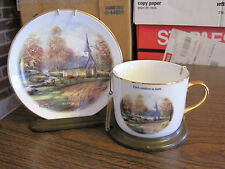 THOMAS KINKADE PLATE AND CUP--THE APEN CHAPEL