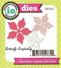 Small POINSETTIA Flowers Set Die Cutting Dies Impression Obsession DIE322-J New
