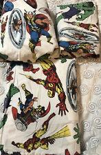 Marvel Comics Pottery Barn PB Full Sz 4pc Sheet Set