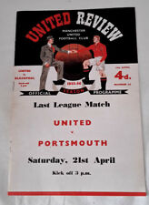 Manchester United Football Club United Review Season 1955-56 Official Programme