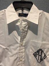 Polo RALPH LAUREN Long SHIRT / DRESS Size: 8 New SHIP FREE White PRL Logo