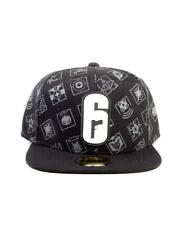 OFFICIAL UBISOFT RAINBOW SIX SIEGE 6 METAL SYMBOL ALL OVER PRINT SNAPBACK CAP