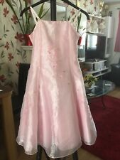 kids party dress, Ladybird, pink satin with detail, 9-10yrs.