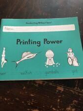 Handwriting Without Tears Printing Power Workbook Homeschool Grade 2 LIKE NEW