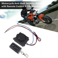 Motorcycle Security Alarm System Anti-theft Remote Control Engine Start 12V NT