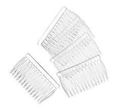 "12 Clear Plastic Hair combs for veils halos crafts 2.75 "" long"