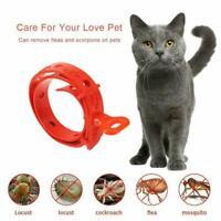 Red Cat Adjustable Pet Collar Neck Strap Remedy Anti Flea Mite Acari Tick T0L4
