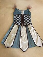LIVING FICTION STUDIOS Girls Renaissance Bar Wench Corset Dress Costume sz 12-14