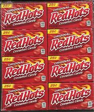 RED HOTS CINNAMON FLAVORED CANDY PAN FERRARA 24 Boxes 21.6 OZ REDHOTS