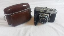Kodak Retina 1 b mit Schneider-Kreuznach Retina-Xenar 2,8/50 mm in Ledertasche