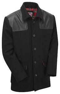 Donkey Jacket Mens Vintage Skinhead Punk MOD Outdoor Work Winter Warm Wool Coat