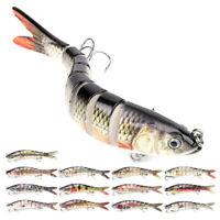 8 Segment Multi Jointed Fishing Lures Fishing Bait Crankbait Hooks Swimbait 14cm