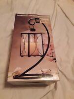 San Miguel Vintage Hanging Candle Lantern Glass Lamp with Original Box.