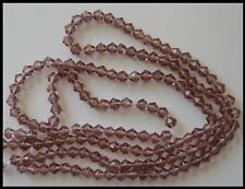 4mm Bicone Glass Beads VIOLET x 2 strands approx 160 Craft Jewelry PURPLE