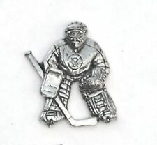 Ice Hockey Goal Tender Pewter Pin Badge FREE UK POSTAGE supplied  gift pouch
