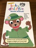 Baby Dolittle World Animals  VHS VCR Video Tape Movie Used Cartoon