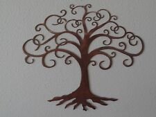 Tree of Life Wall Metal Art with Rustic Copper Finish Hanging