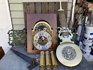 Kieninger MSU-13 Howard Miller Grandfather Clock Movement Weights Pendulum Etc